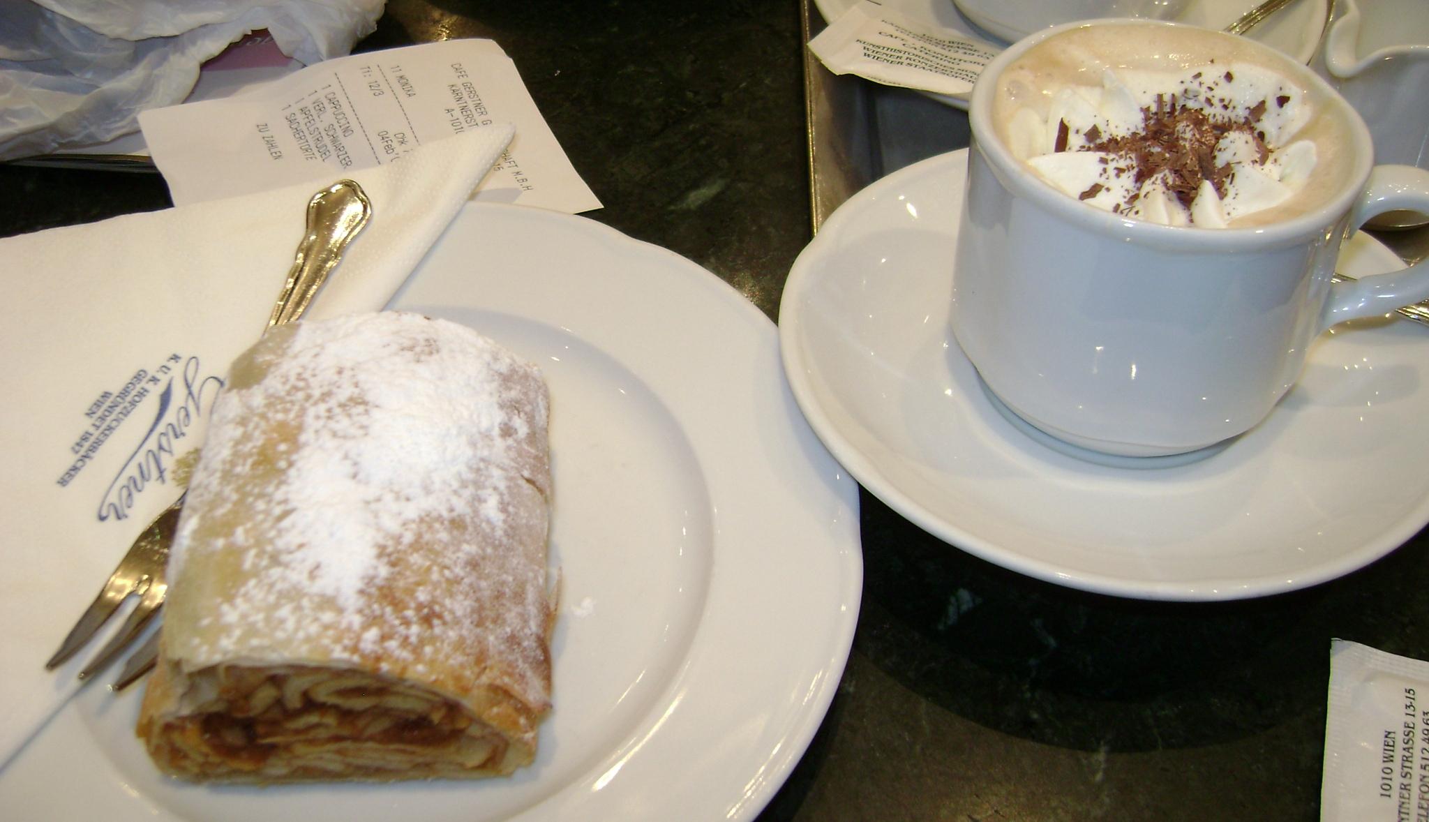 Ausgezeichnet apfelstrudel und cappuccino wien sterreich for Austrian cuisine vienna