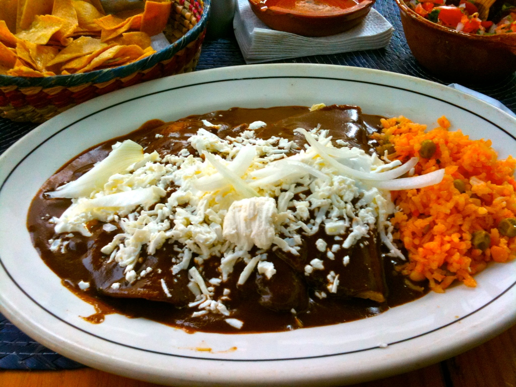 chicken in mole sauce/ Mexico City